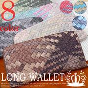 長財布 ラウンドファスナー 札入れ 小銭入れ メッシュ調型押し グラデーション 財布◆A-006-A-12
