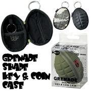 【アメ雑 ミリタリー】GRENADE SHAPE KEY&COIN CASE 手榴弾 兵士 軍人 武器 ケース