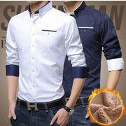裏ボア長袖シャツ メンズ 5色 大きいサイズ M-3XL 100863