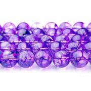 【クラック水晶(紫)】 10mm 1連(約38cm)_R774-10/A6-6