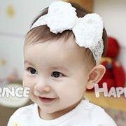 韓国風★赤ちゃん ヘアアクセサリー★リボンパールヘアバンド  赤ちゃんの髪飾り