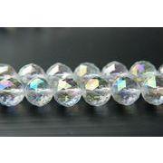 水晶96面トライアングルカットレインボーオーラ 10mm 1連(約38cm)_R782-10/A6-5