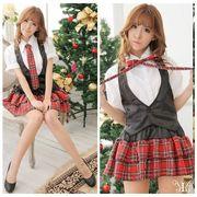 【sale1014】大きいサイズアイドル風コスチュームミニスカートコスプレ巻きスカートネクタイ無LL~4L