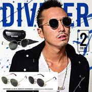 流行りのラウンド型★【DIVINER】サークルレンズサングラス/眼鏡 メガネ メンズ アクセサリー