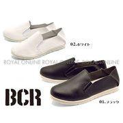 【BCR】 BC-718 フェイクレザー スリッポン 全2色 メンズ