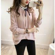 【大きいサイズM-4XL】ファッション/人気ワイシャツ♪ホワイト/ピンク/ブルー3色展開◆