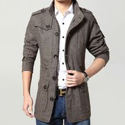 ファッション/シングル/ロング丈 カジュアル ビジネス 紳士 通勤 チェスターコート メンズ