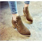 ★素敵★ファッションスタッズ 太ヒール 靴 パンプス 全3色 shoes-say-101
