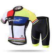 サイクルジャージ上下セット 薄手半袖 おしゃれ メンズ 自転車ウェア  サイクリングウェア 春夏用