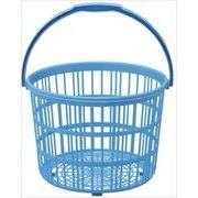 和泉化成 日本製 洗濯かご・ブルー (直径29.5×奥×高22cm)