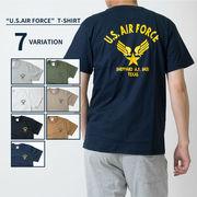 U.S. AIR FORCE バックロゴ プリントTシャツ