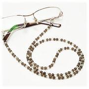 スモーキークォーツ×水晶 メガネチェーン 眼鏡チェーン グラスコード