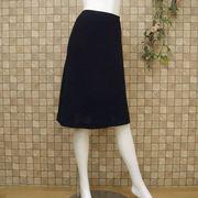 【アウトレット価格】 ブラックフォーマル ヒザ下丈スカート