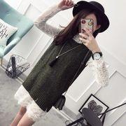 ノースリーブ★セーターの女性★ヘッジ★ベスト★ニット★新しいデザイン★ファッション★2点