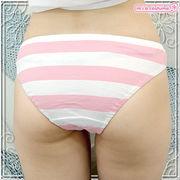 ■送料無料■ボーダーショーツ (しまパン) 色:ピンク×白 サイズ:M●貧乳・AAAカップ