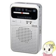 RD8SV ヤザワ AM専用ポケットラジオ シルバー