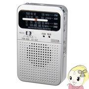 RD10SV ヤザワ 短波・AM・FMポケットラジオ シルバー