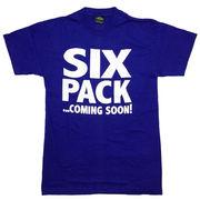 シックスパック Tシャツ 半袖 青 ブルー XL 腹筋 筋トレ