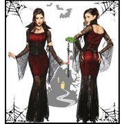 ハロウィン 衣装 コスプレ コスチューム マント 吸血鬼 魔女 巫女 変装  大人用女王