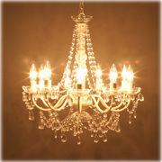 ★【Chandelier Juliette】LED電球対応★ノックダウン★9灯シャンデリア★ジュリエット クリーム♪