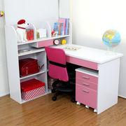 【完売・次回未定】学習机 3点セット ピンク&ホワイト STD-3 PK-WH