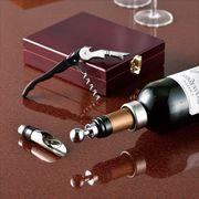 木箱入ワインツール4P /大人のギフト プレゼント ノベルティ 栓抜き ワインオープナー