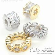 "★新商品★L&A Original parts★Cubic zirconia★上質ロンデル♪176 ""Cubic Rondel"""