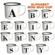 気取らないシンプルなマグでコーヒーブレイク♪【アルファベットミニマグカップ】