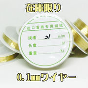 【極細0.1mm】ワイヤー 30メートル巻 ハンドメイド
