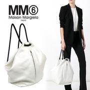 MM6 MAISON MARGIELA エムエム6 2WAY レザー バックパック ホワイト【S54WA0002-SX9288964】
