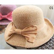 ビートにぴったり★手織り麦わら帽子★レディース★UVカット