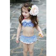 水着 女の子 キッズ 子供服 可愛い スイミング セパレート 上下セット 帽子スカット三点セット