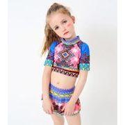 水着 女の子キッズ 子供服可愛い スイミング セパレート 上下セット トップス+スカット2点セット