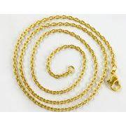 ゴールドカラーの チェーンネックレス 50cm  GOLDシンプル ネックレス アクセサリー