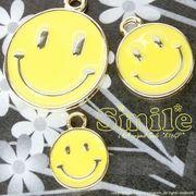 """★新掲載★L&A Original Parts★K16GP★Gold color★黄色いニコちゃんチャーム♪166 """"Smiley"""""""