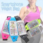 【在庫セール】スマホウエストバッグ ジョギング ウエストポーチ スマートフォン iPhone ランニング