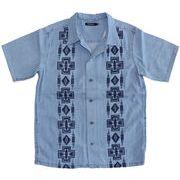 デニムキューバシャツ オープンカラーシャツ 半袖 77208-S