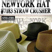 ★春夏♪ ペーパー素材のブレード中折HAT♪【ニューヨークハット】#7183 STRAW  CRUSHER 12154