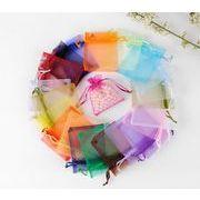 シースルー巾着袋 プレゼントやラッピングに  ノバン素材巾着袋 メッシュ小物入れ100枚セット