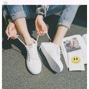 夏★コンフォート★通気★シンプル★ひもあり★白い靴★韓国風★男★レジャー★キャンバスシュ