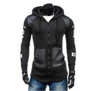 秋冬 新しいデザイン セーター 欧米 大きいサイズ レザー 帽子付き カーディガン ジャ