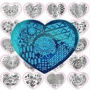 【最安値保証 】diyネイル用品 3D立体シールママスタンプ  愛  ステッカー 彩色上絵の図案