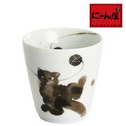「にゃん屋」★モコ猫カップ黒 おすわり(1個箱入り)