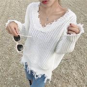 ランタンスリーブ セーターの女性 ヘッジ 韓国風 短いスタイル ルース 秋服 新しいデザ