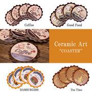 【CERAMIC ARTS】セラミックアート コースター ラウンド4個セット♪