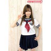 ■送料無料■半袖セーラー服セット サイズ:M/BIG 色:白 ■夏服セーラー■