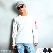 ロング丈裾ラウンドMA-1デザインTシャツ