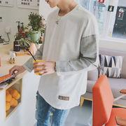 日本語男性単純なステッチ緩いセーター ジョーカー 10 代長袖 t t 韓秋