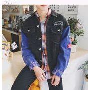 ストリート スタイル洗浄やって老人秋ラペルのステッチの秋新しい日本のビンテージ刺繍襟長袖