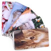 【かわいいネコちゃん】ピクチャープリント ラウンドファスナー長財布 5柄